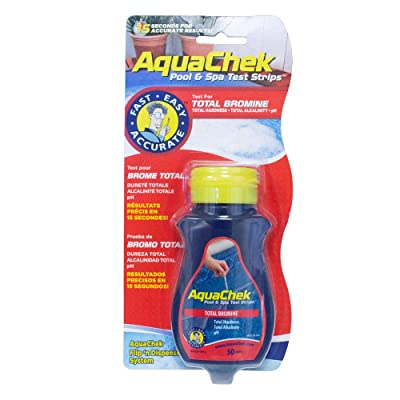 AquaChek Total Bromine Test Strips (50 count) : Swimming Pool Testing Strips : Garden & Outdoor