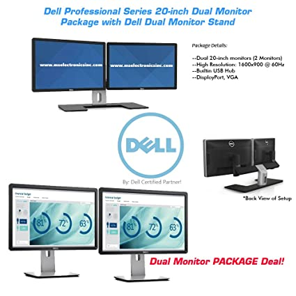 Dell 20-inch Pro Series Dual Monitor Bundle with Dual Monitor Stand