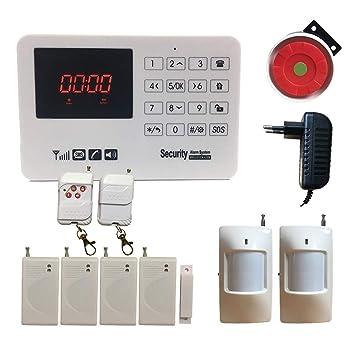 HuilingyiTech - Sistema de Alarma para el hogar (inalámbrico, gsm, SMS, Teclado