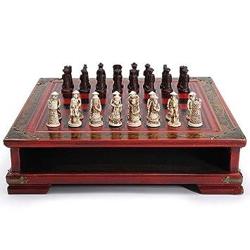 32Pcs / Set Ajedrez de Mesa de Madera Juegos Chinos de ajedrez ...