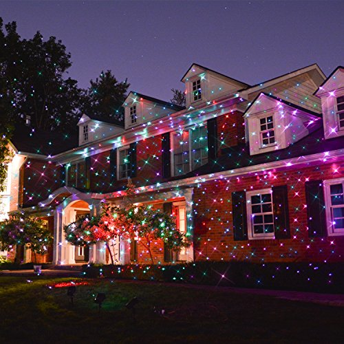 Starry Laser Light Landscape Projector Lights Outdoor Waterproof Laser Lamp  for Outdoor/Garden/Yard/Wall Family Gathering Party KTV Wedding Night Club  ... - Starry Laser Light Landscape Projector Lights Outdoor Waterproof