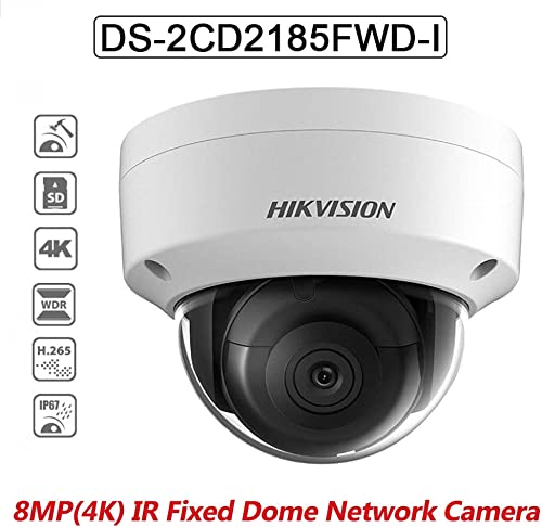 Hikvision 8MP Dome Camera DS-2CD2185FWD-I 2.8mm IP PoE H.265 IP67 Indoor Outdoor Network Security Camera