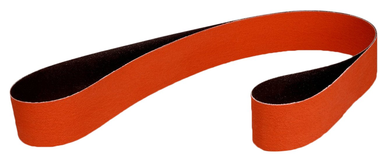 Pack of 200 1 x 132 80 YF-weight 3M 27336 Cloth Belt 977F Ceramic Polyester Cloth Backing 1 Width Abrasive Grit 132 Length