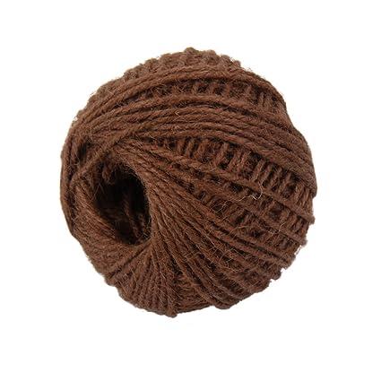 50m Rollo de Cuerda Cable Hilo de C/á/ñamo Artesanal Decoraci/ón para Hogar Color Natural