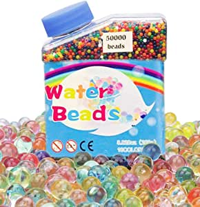 50000 pieces Water beads Multicolor Gel Soil Beads Non-Toxic water Gems for vase filler plants, flowers, home decoration