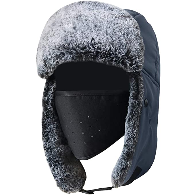 ... Gorra de Piloto para Hombres Sombrero de Aviador Máscara Caza de Invierno Bombardero Trooper de Felpa Unisex Adultos: Amazon.es: Ropa y accesorios