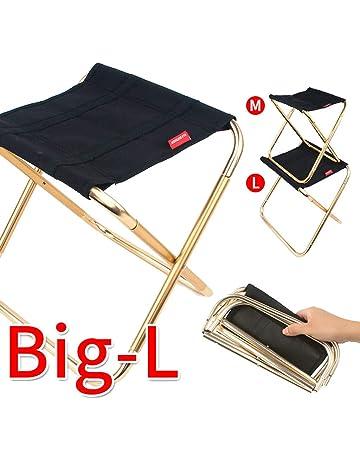 Bibao Silla de camping plegable + bolsa de transporte, ligera, portátil, para festivales