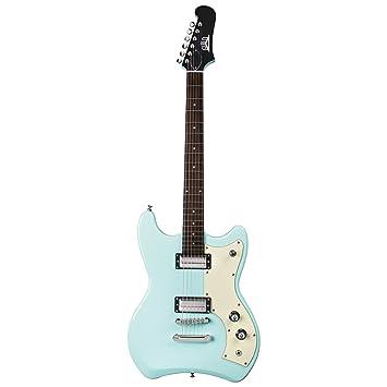 Hermandad S-50 – JETSTAR guitarra eléctrica de cuerpo sólido verde de espuma de mar