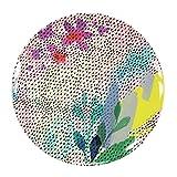Talking Tables Fluorescent Floral Melamine Plate, Multicolor