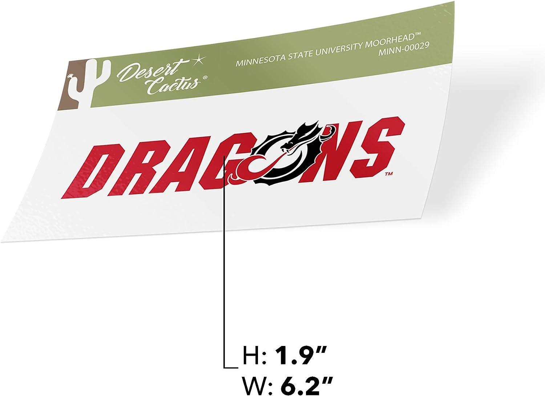 Minnesota State University Moorhead MSUM Dragons NCAA Vinyl Decal Laptop Water Bottle Car Scrapbook Sticker - 00029