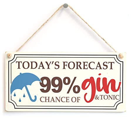 Mr.sign TodayS Forecast 99% Chance of Gin Cartel de Pared ...