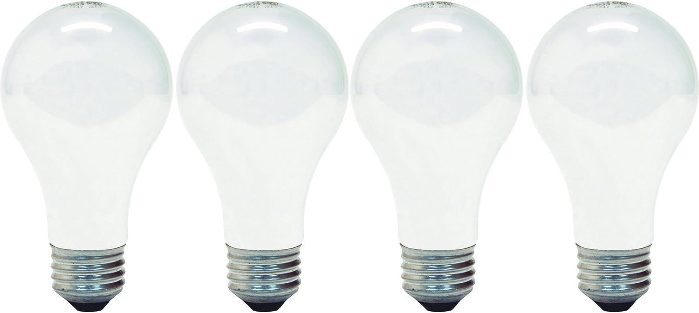 GE Lighting 66249 Soft White 72-Watt, 1270 Lumen A19 Light Bulb with Medium Base, 4-Pack
