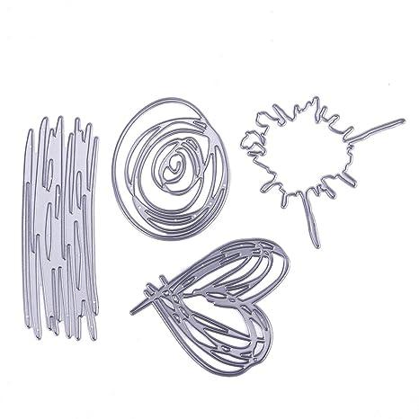 Troqueles, plantillas/matrices de recorte para bricolaje, álbumes, papel, cartas y