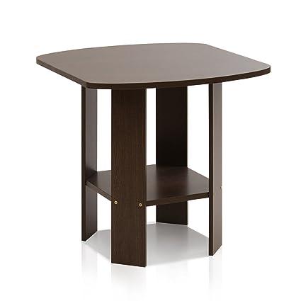 on sale 644c0 e3ca9 Furinno 11180DBR Simple Design End/Side Table, Dark Brown