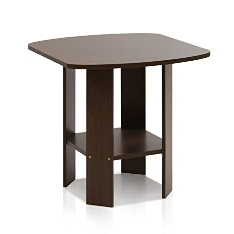 Amazon.com Furinno 11180DBR Simple Design End/Side Table Dark Brown Kitchen u0026 Dining  sc 1 st  Amazon.com : kitchen side table - hauntedcathouse.org