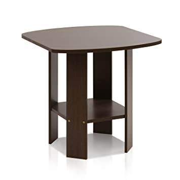 Furinno 11180DBR Simple Design End/Side Table, Dark Brown