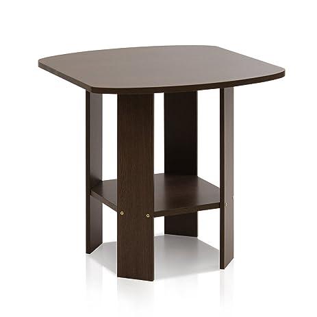 Amazoncom Furinno 11180DBR Simple Design EndSide Table Dark