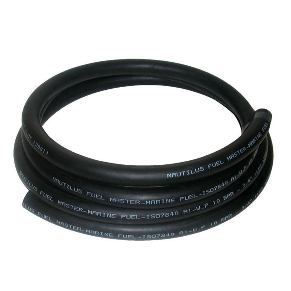 16mm ID Black 3 Metre Length Rubber Marine Fuel & Oil Hose - AutoSiliconeHoses