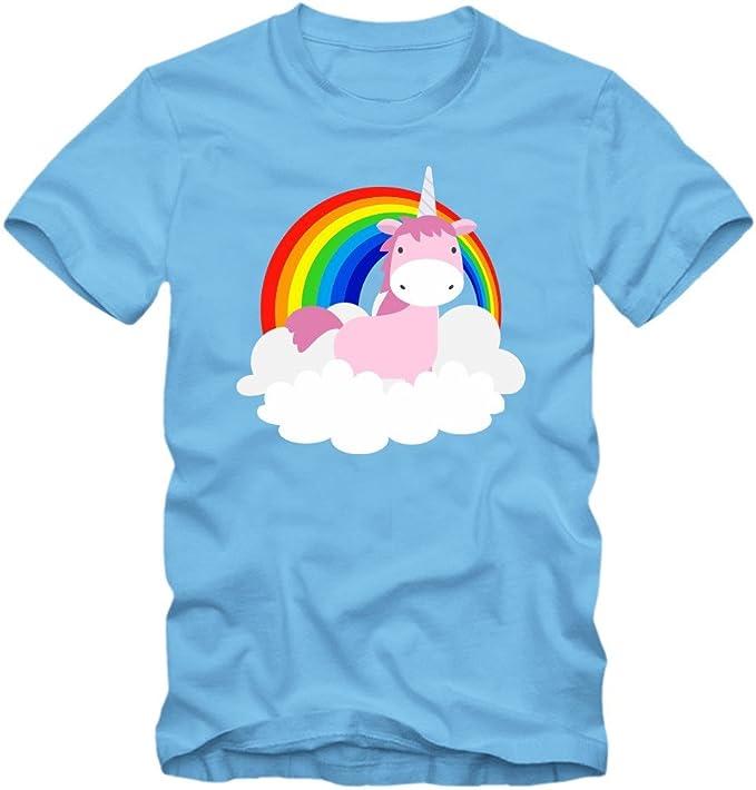 Unicornio Arcoiris Camiseta | Niño y Niña | Unicornio | Color | Caballo | Clouds | T-Shirt: Amazon.es: Ropa y accesorios