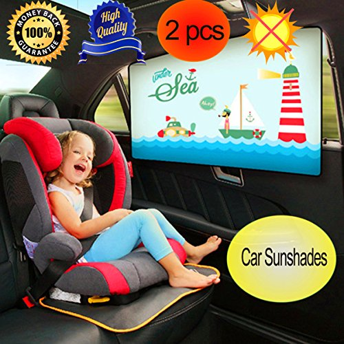 Price comparison product image Car window Shade, Car Window Shades for Side Rear Window Car Window Shades for Baby Child Kids for Cars and SUV's- Protects Your Baby and Pets from the Harmful UV2PCS(Rear)