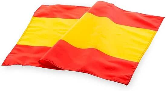 Bandera de España, sin Escudo. 100 * 70 cm Colgar en el balcón, en la Ventana, o para Llevar en el Coche.: Amazon.es: Jardín