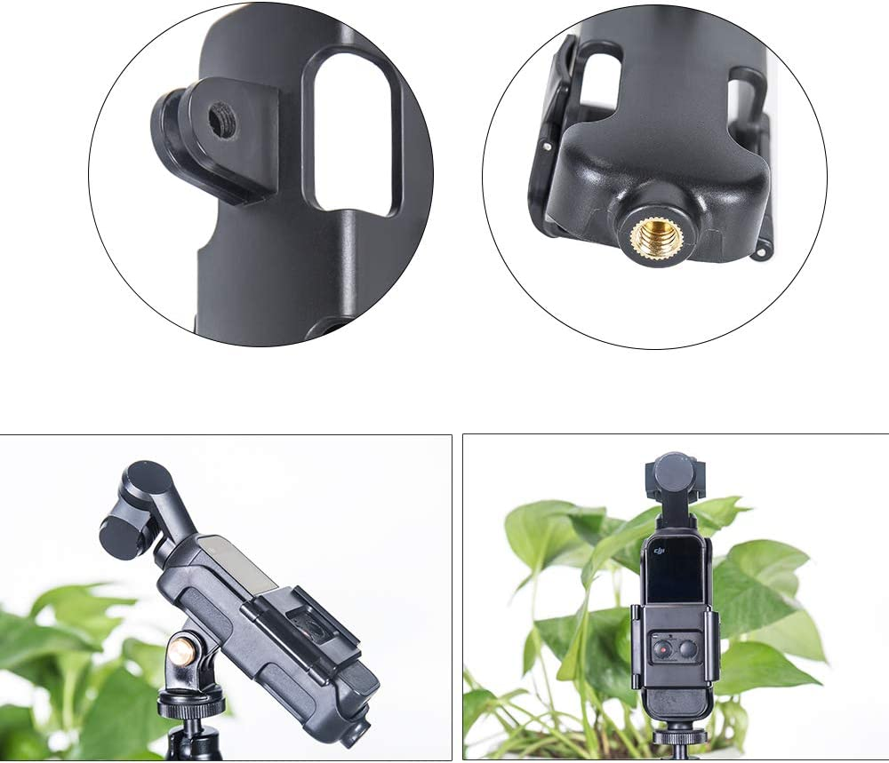 Smatree Action Mount Compatible for DJI OSMO Pocket Action Cam Mount fit Any GoPro Mount and Tripod
