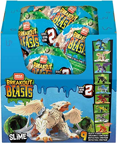(Mega Construx Breakout Beasts, Complete Wave 2 Series, 9-pc Set, Limited Edition, NO SUPRISES)