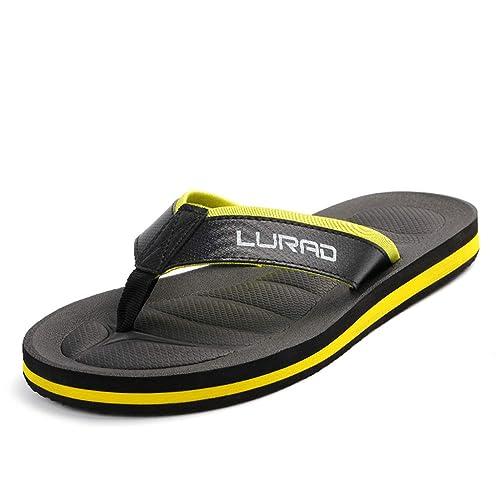 Chanclas Amarillas Moda Interior de Verano Grueso de Fondo Antideslizante Cool Zapatillas Deslizamiento Casual Beach Shoes: Amazon.es: Zapatos y ...