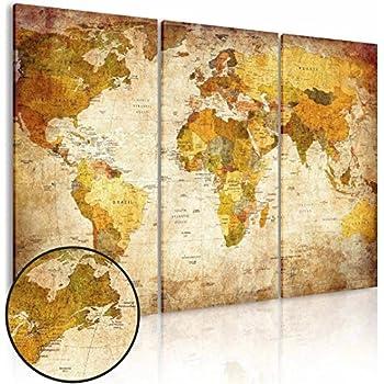 Amazon.com: (Frameless) Canvas Prints Map Art, NLEADER Wall Art ...
