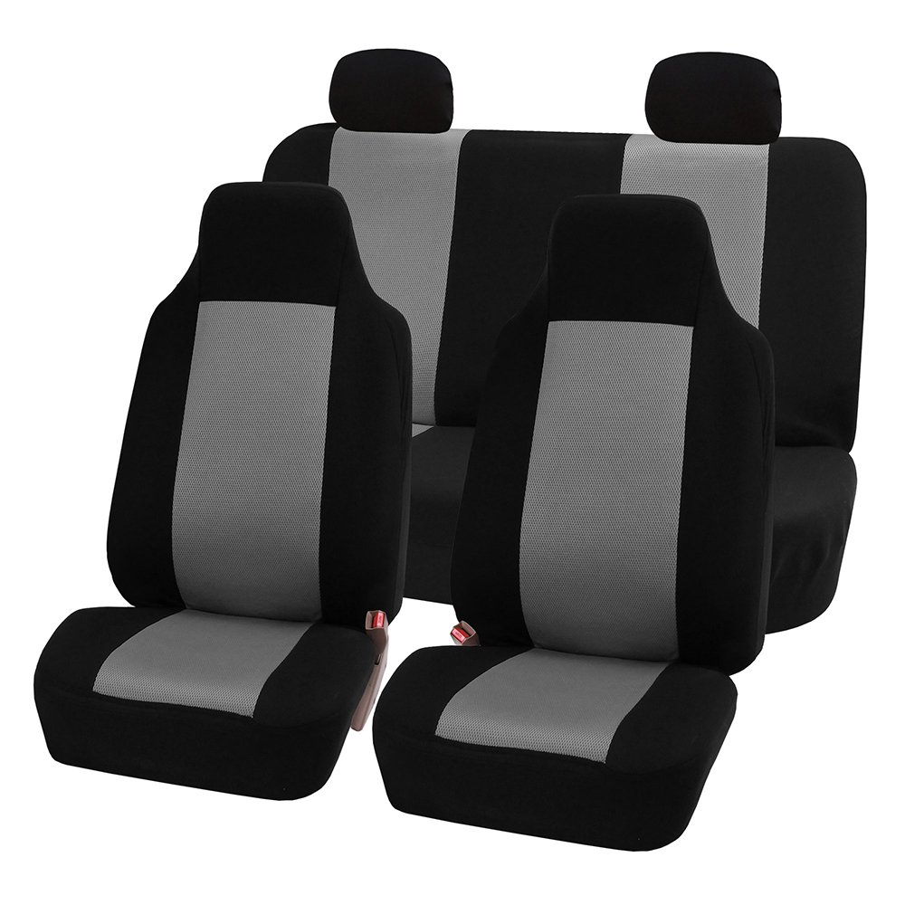 FH Group FB102GRAY114 Gray 3D Air Mesh Auto Seat Cover (Full Set) by FH Group