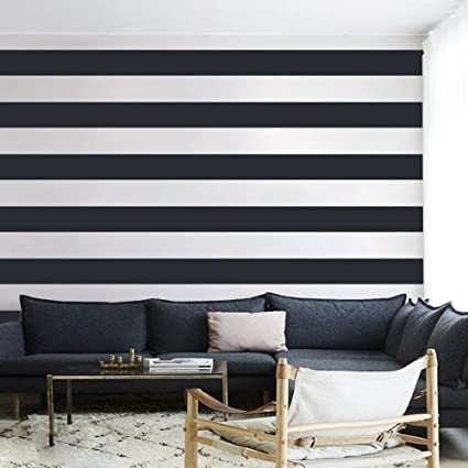 Vinyl Wall Stripes Decal Stripes Wall Sticker Wall Graphic Mural Custom  Decals Home Art Decoration Black