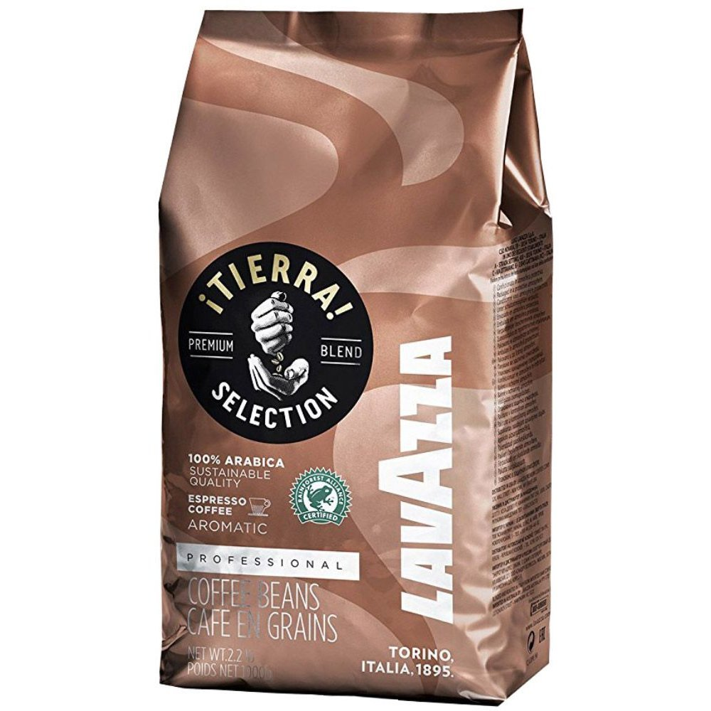 Lavazza Tierra! Selection Whole Bean Coffee Blend, Medium Roast, 2.2-Pound Bag