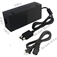 Power Supply Brick For Xbox One , AC Adapter Power Charger Cord Replacement with Cablefor Xbox One 100-240V Advanced Quietest Version Black