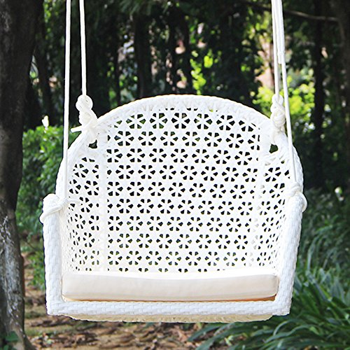 Pack Of 2 Wicker Porch Swing Chair For Children Or Adult, Hanging Rope  Chair Swing