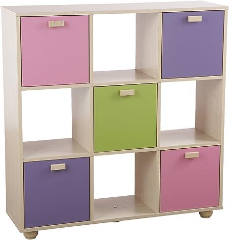Home Source Mobile Colorato Per Camera Da Letto Di Bambini E Ragazzi Pink 3x3 Cube Amazon It Casa E Cucina
