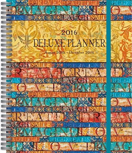 Wells Street by Lang Patterns 2016 Deluxe Planner by Tim Coffey, August 2015 to December 2016, 7.375 x 9.75 Inches (7061027)