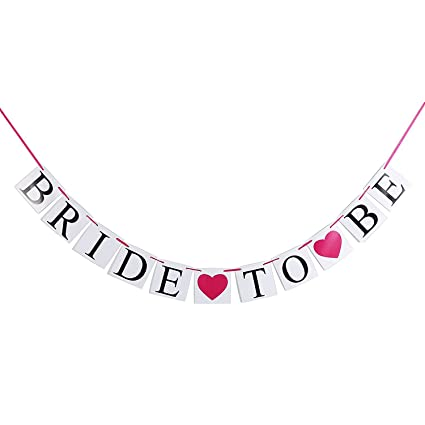 bridal shower banner garland bride to be wedding signs diy cards decorations for bachellorette