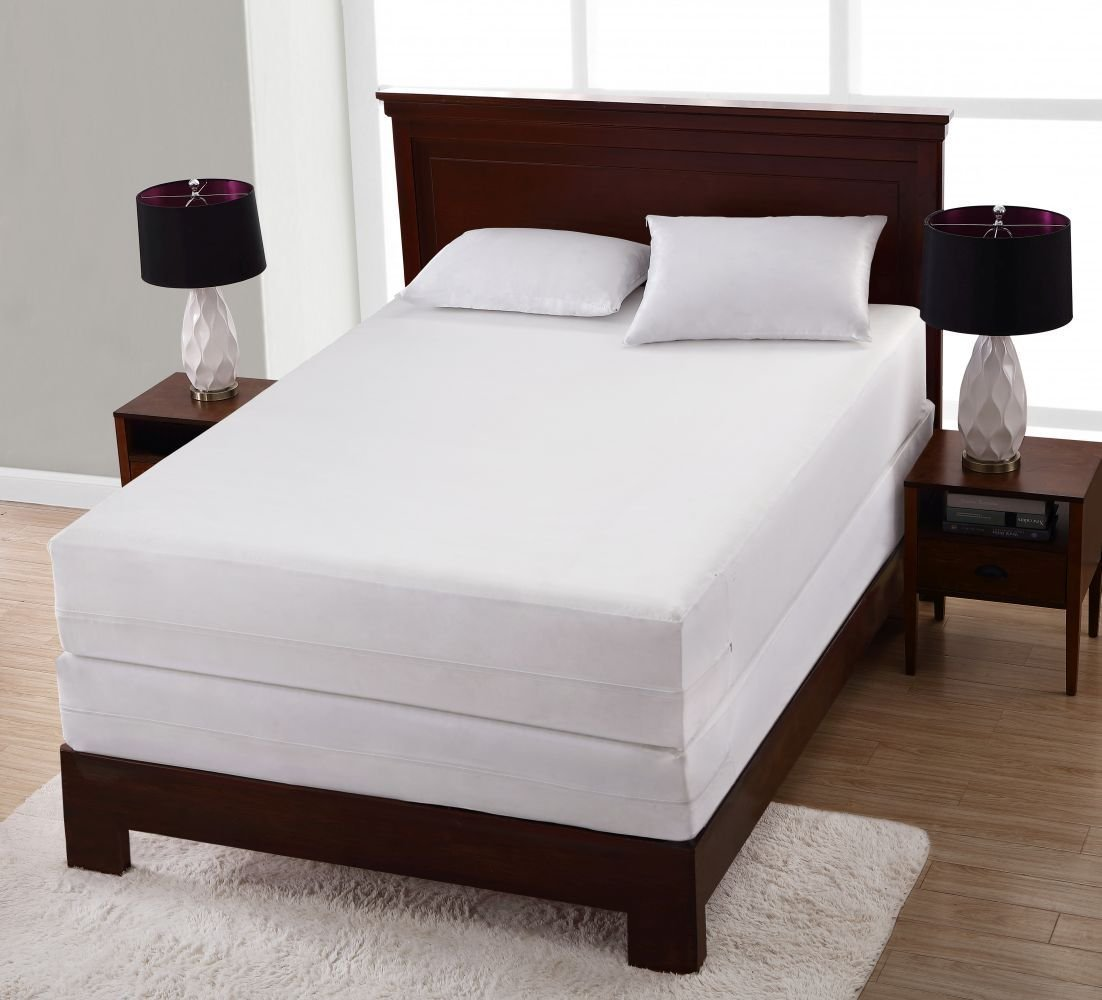California King All-in-One Bed Bug Blocker Non-Woven Zippered Mattress Protector