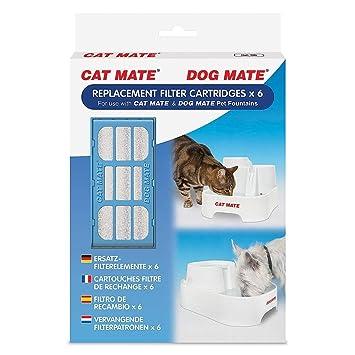 Pet mate Cartuchos De Filtro De Repuesto X 2 para Perro Gato Mate fuentes Mate 339