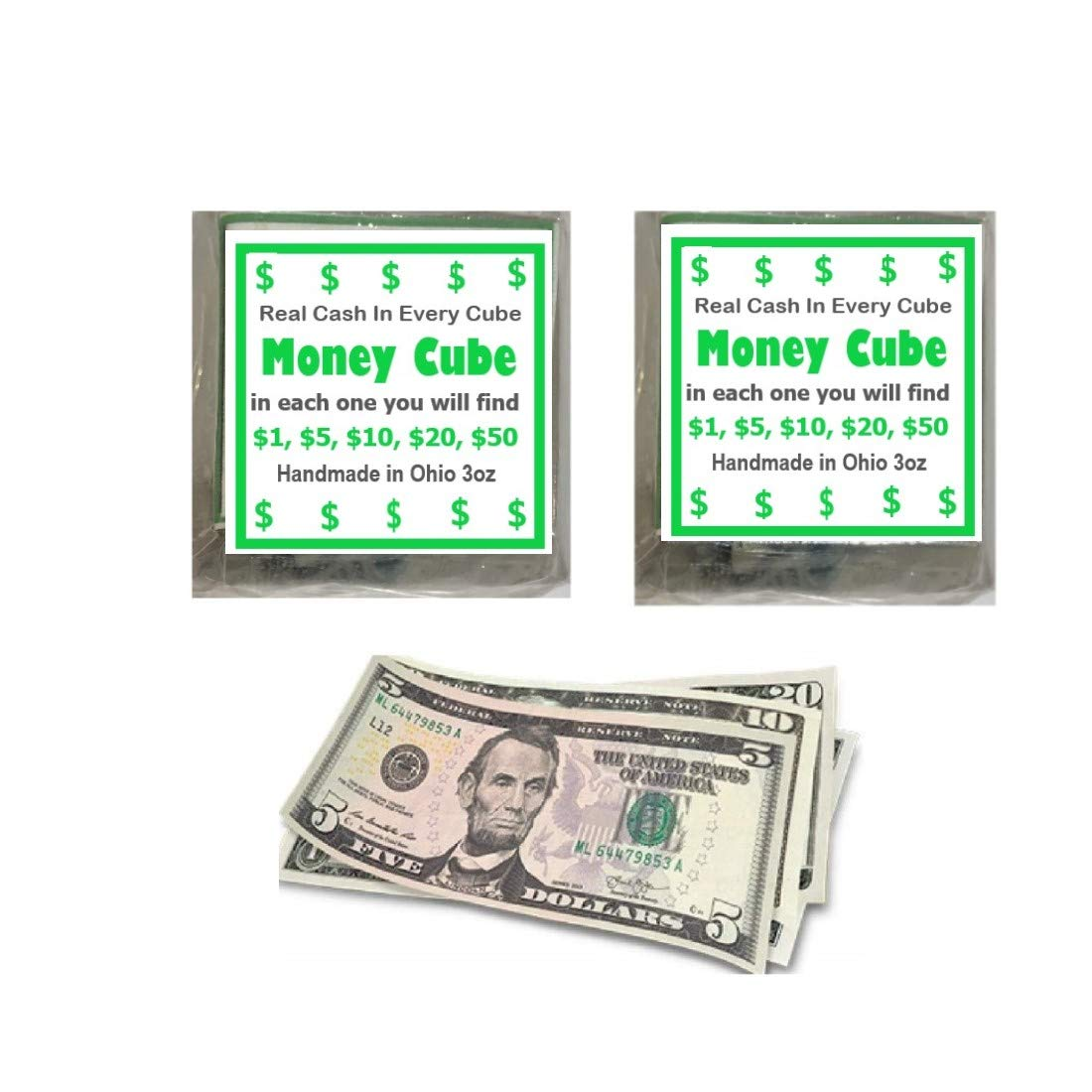 The Cube Money Soap Real Cash (Set of 2)