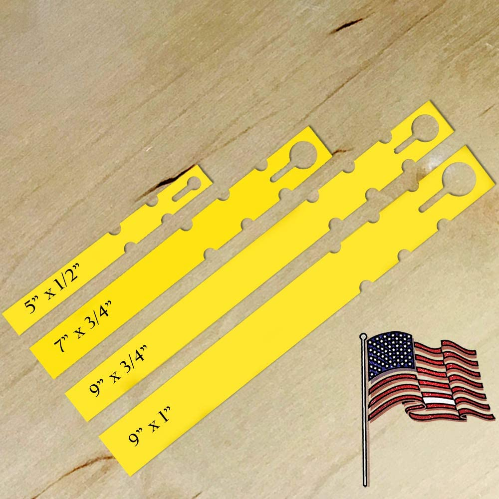 "TAGKRAFTERS Yellow - 4 Sizes to Choose from - 1,000 Pcs of 7"" x 3/4"" - Plastic Plant Tags and Labels - Wrap Around Thermal Plastic - Nursery Garden Tree Labels 
