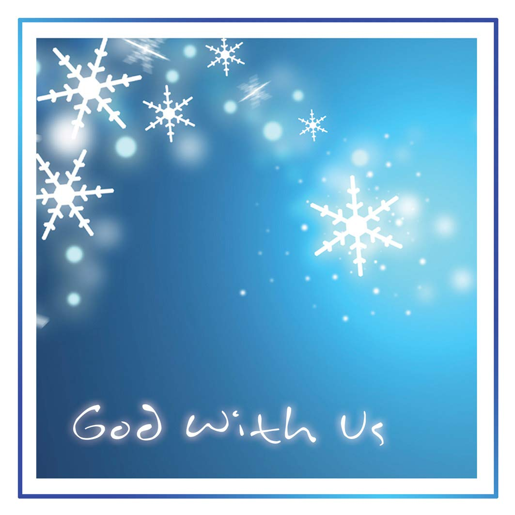 Christian Christmas Cards.Small Christian Christmas Card Pack Of 10 God With Us By