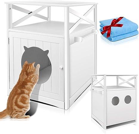 Masthome Mueble de Baño para el Arenero de Gatos,Cubierta para ...