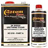 2K Automotive Speed Urethane Clear Kit (1 Gallon) with Over-All Hardener (1 Quart)