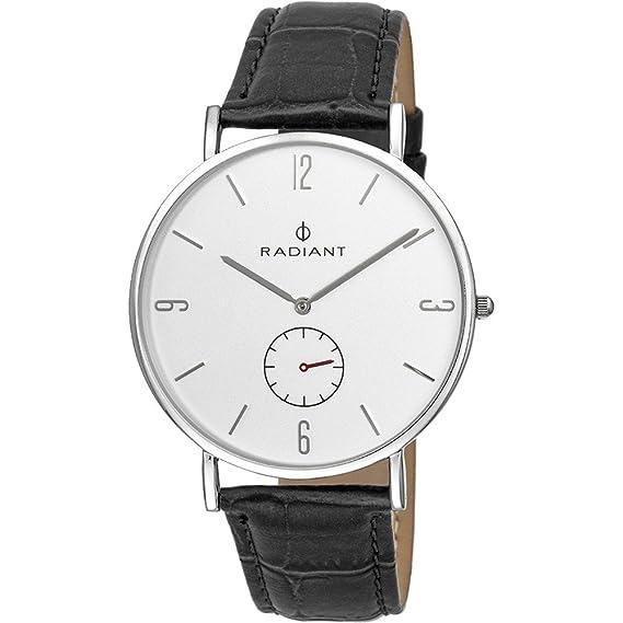 Reloj Radiant hombre Diary Silver Black Croco RA377628 [AB9295] - Modelo: RA377628: Radiant New: Amazon.es: Relojes