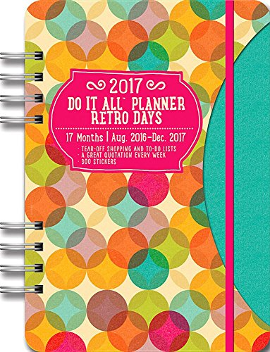 Orange Circle Studio 17-Month 2017 Do It All Planner, Retro Days