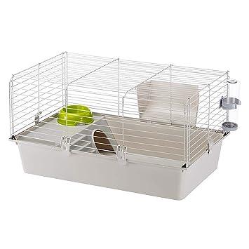 Amazon.com: Jaula Ferplast Pig, color gris: Mascotas