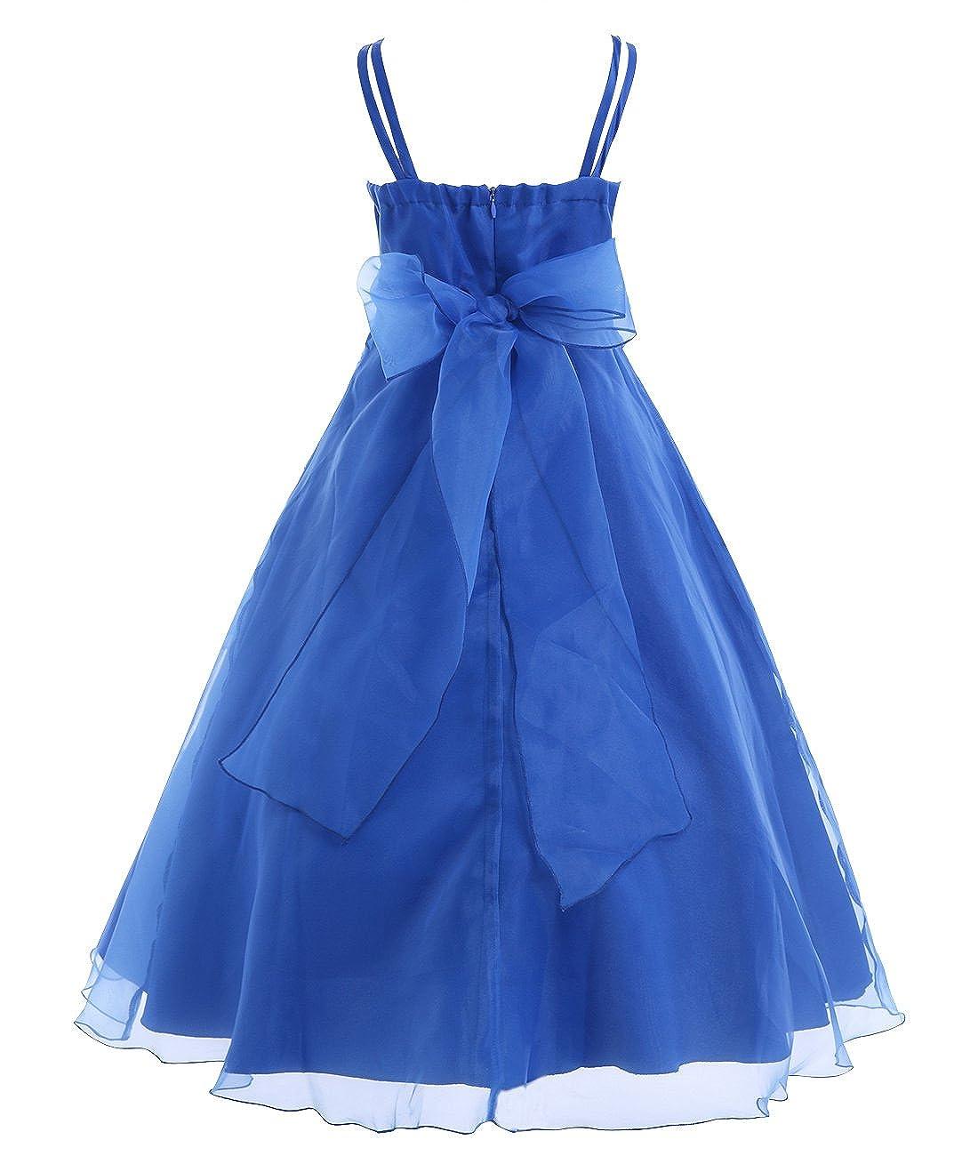 239591d249c Amazon.com  Freebily Girls Organza Flower Girl Dress Princess Pageant  Wedding Bridesmaid Birthday Party Dress  Clothing