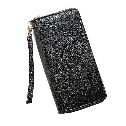 c9f979b684ea Amazon.com: JNCLEO Lichee Pattern Women Wallet Long Zipper Leather ...