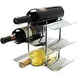 Oggi 9-Bottle Stainless Steel Wine Rack